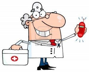 12353043-smiling-male-doctor-with-a-first-aid-kit-and-phone-ringing